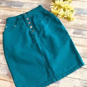 80's vintage Gitano denim skirt